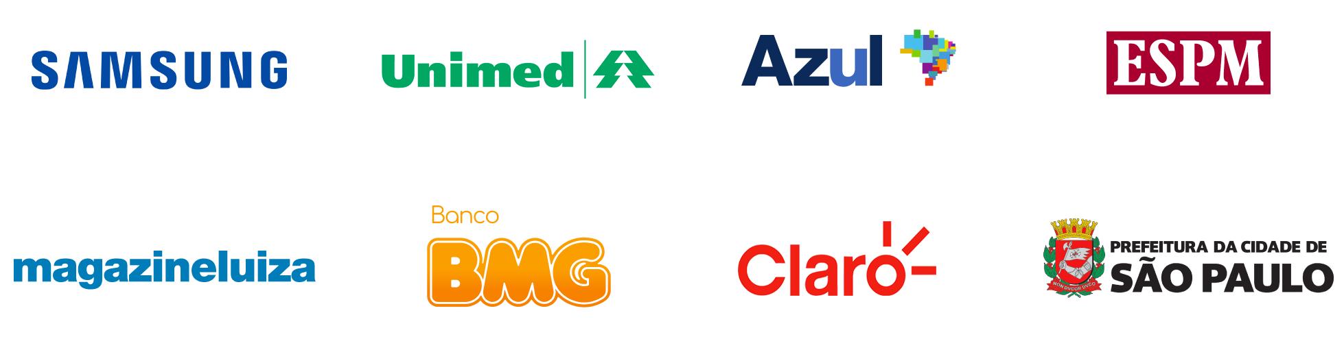 Empresas que já contam com a Hand Talk: Samsung, O Boticário, Azul, ESPM, Magazine Luiza, Banco BMG, Sebrae e Prefeitura de São Paulo