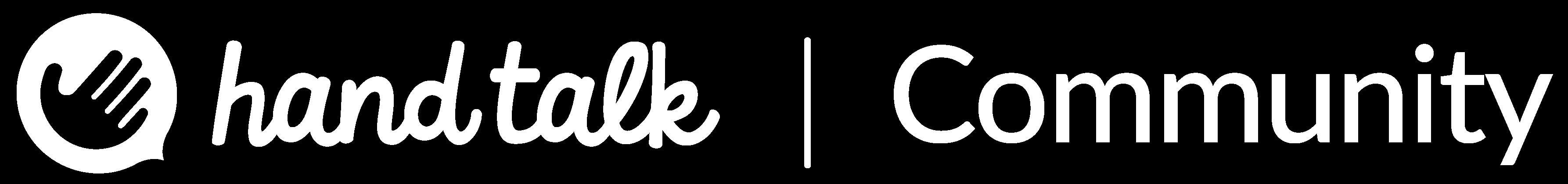 Logo da Hand Talk e ao seu lado direito o texto