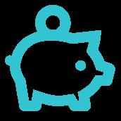 Ícone com ilustração de um cofrinho