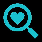 Ícone com ilustração de coração