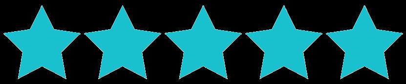 Ícone com ilustração de 5 estrelas totalmente preenchidas