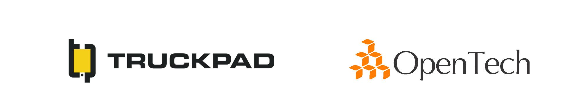 Logo TruckPad e Opentech