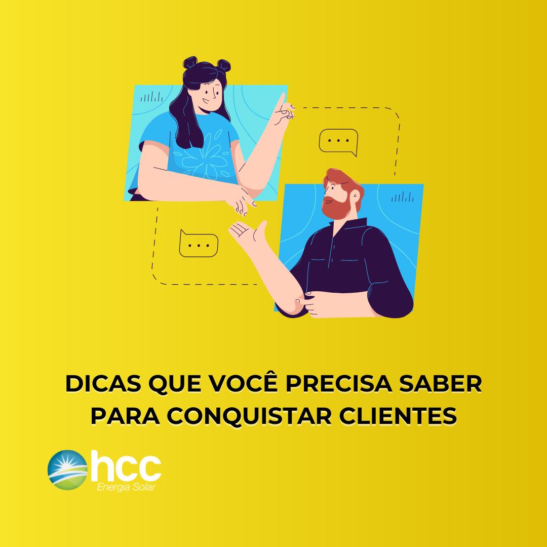 capa amarela do ebook gratuito dicas que você precisa saber para conquistar clientes
