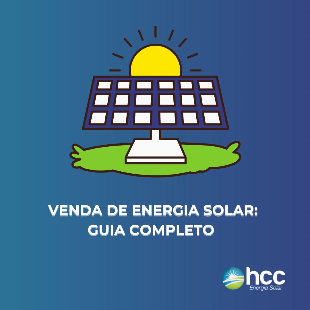 capa azul do guia completo: venda de energia solar
