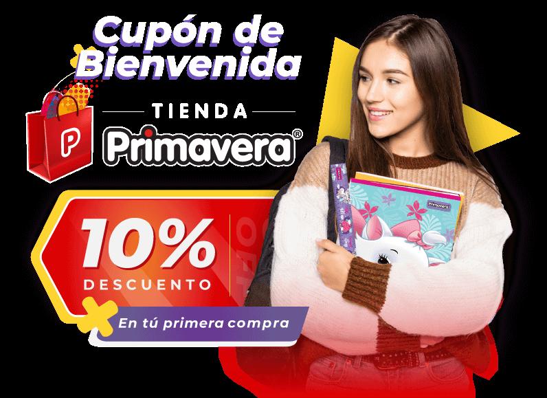 Cupón de Bienvenida   Tienda Primavera   10% en tu primera compra