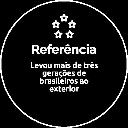 Referência: Levou mais de três gerações de brasileiros ao exterior