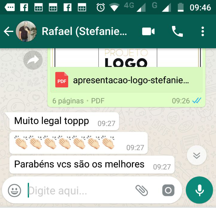 Print da opinião do produtor Rafael sobre marketing artistas