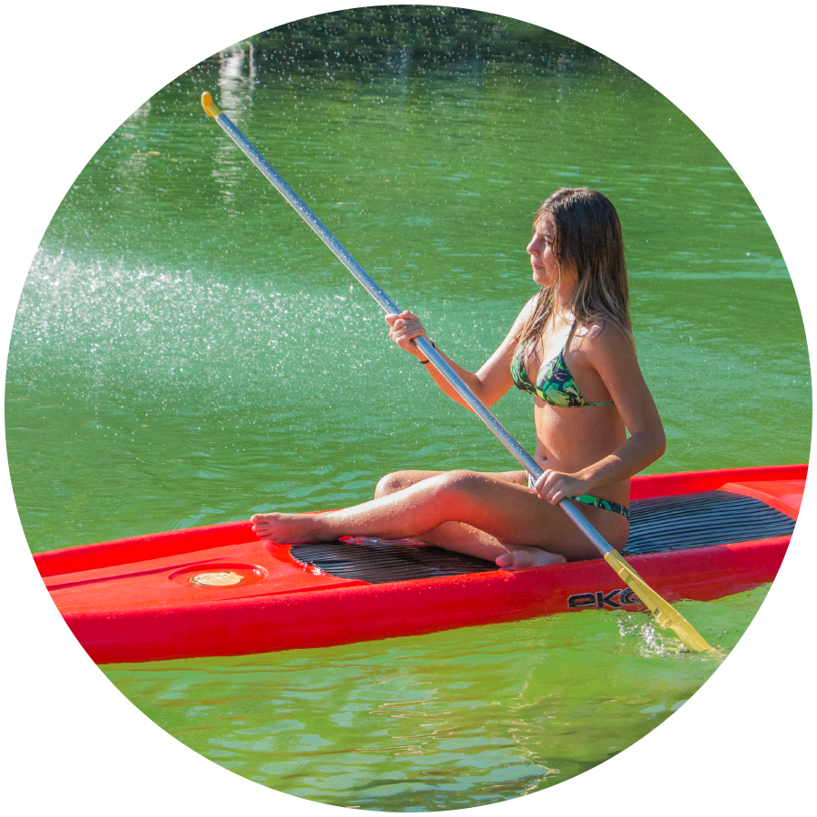 Passeio de Stand Up Paddle no EcoPark