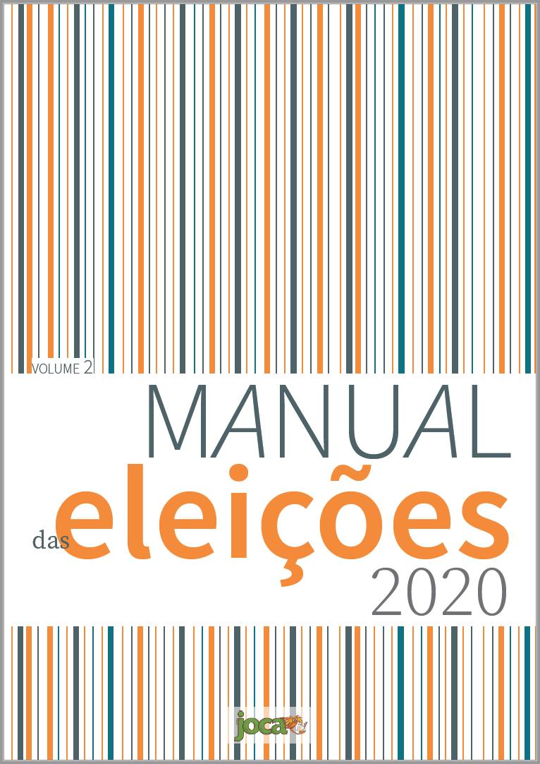 Capa do Livro Manual das eleições 2020 (Editora Magia de Ler, 2020) - Joca