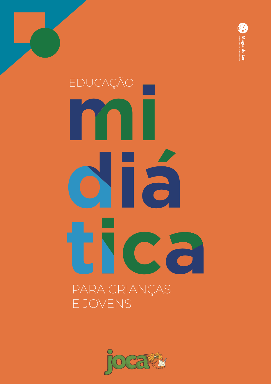 capa do material de educação midiática do Joca para crianças e jovens