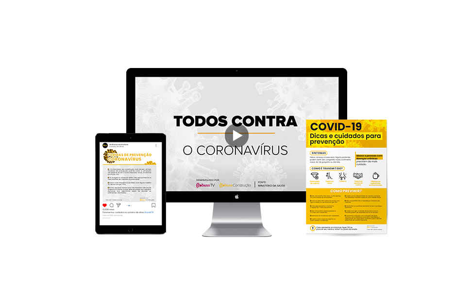 coronavírus no canteiro de obras
