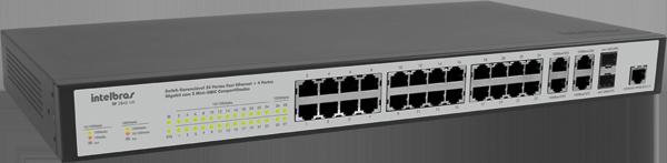Switch gerenciável 24 portas Fast Ethernet