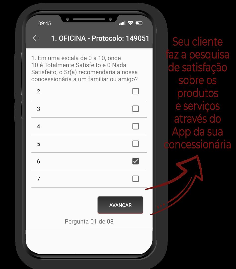 App vendas e pós-vendas