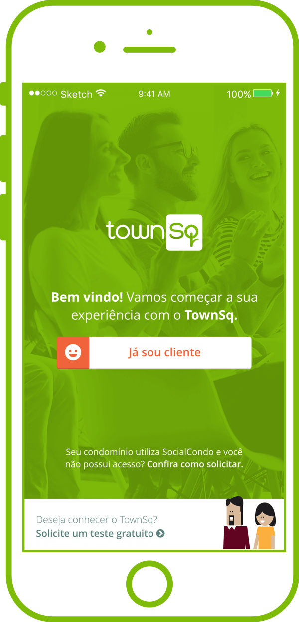 Software para condomínio TownSq - Imagem do App