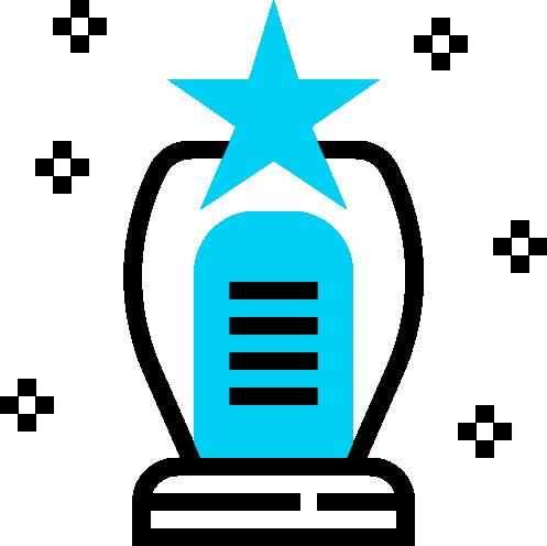 Aluguel bebedouro industrial Ilustração troféu com estrela