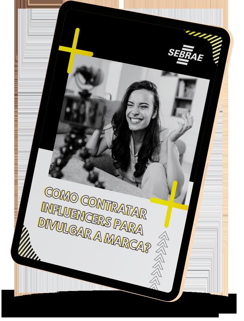 capa de ebook com imagem de uma moça sorrindo e título