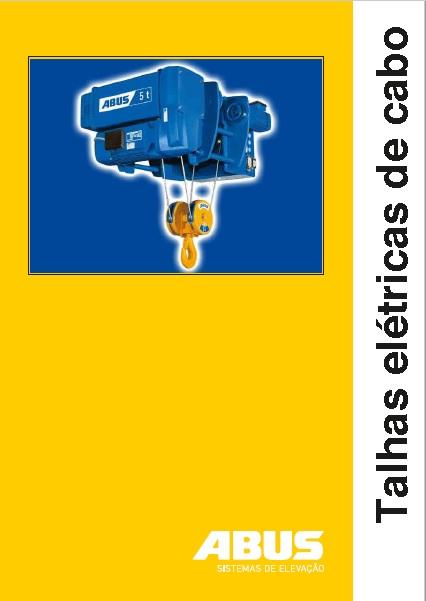 catálogo da talha elétrica de cabo