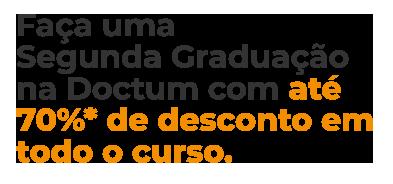condições especiais segunda graduação doctum