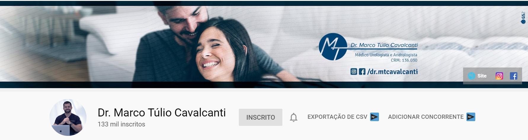 Canal do Youtube em Maio de 2020