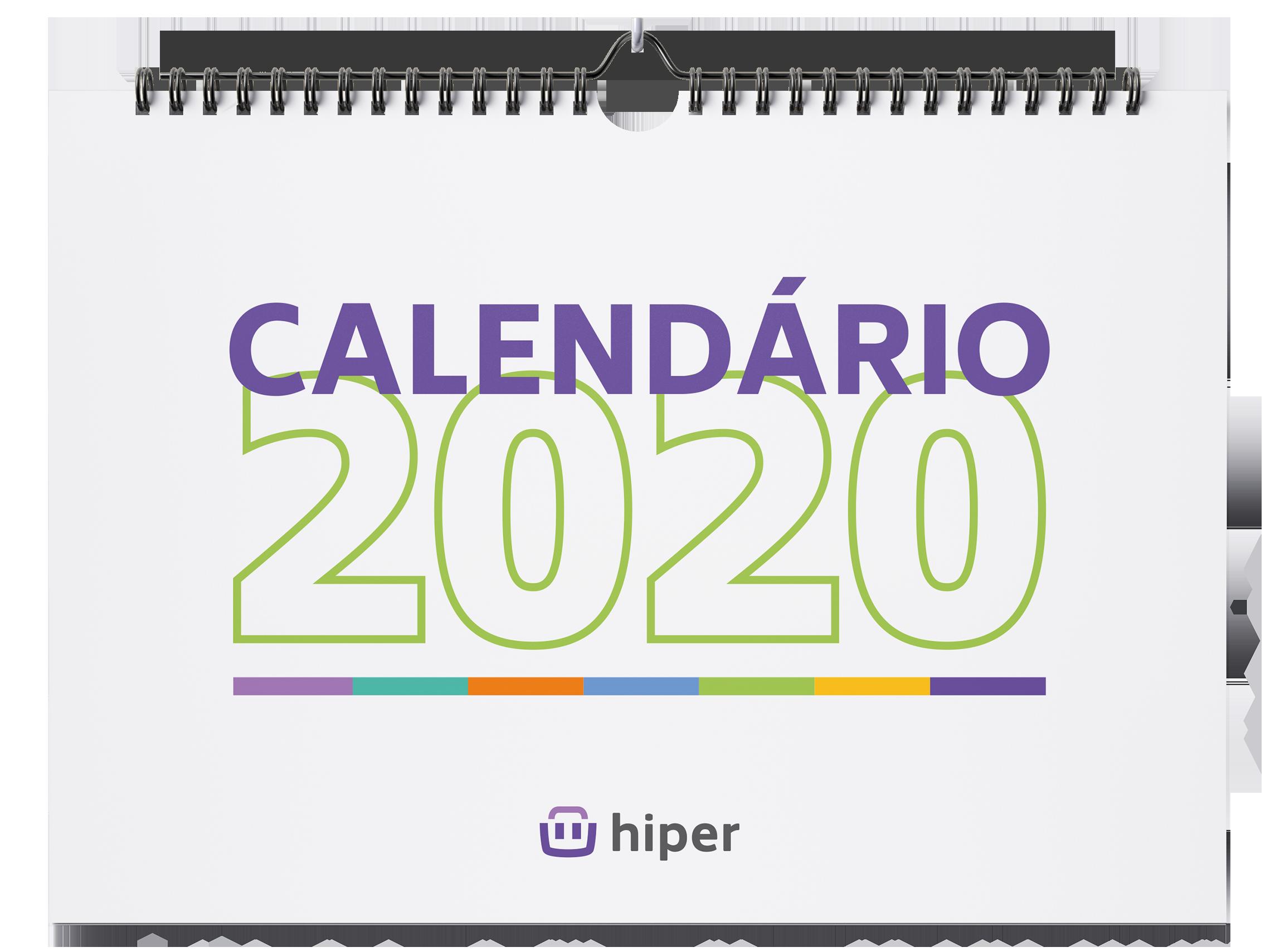 Calendário e as datas  para o varejo 2020