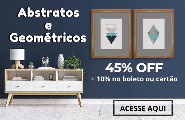 Quadros abstratos com 45% off