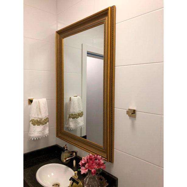 Espelho Dourado Decore Pronto