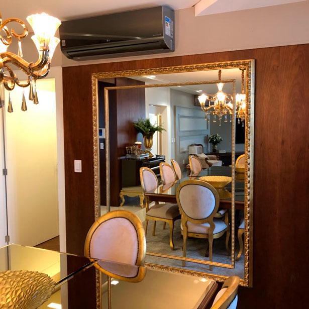 Espelho ouro clássico