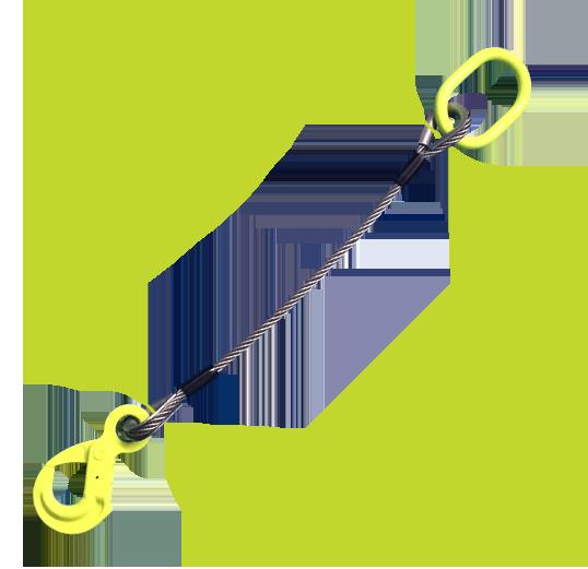 Eslingas e extensões de cabos