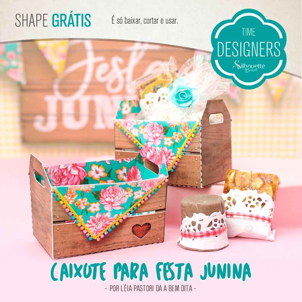 Shape Grátis - Caixote para Festa Junina - Silhouette Brasil