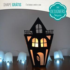 DIY com Molde Grátis - Lanterna Casa Mal Assombrada de Halloween