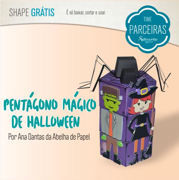 Shapes Grátis - Caixa Pentágono Mágica de Doces para Halloween