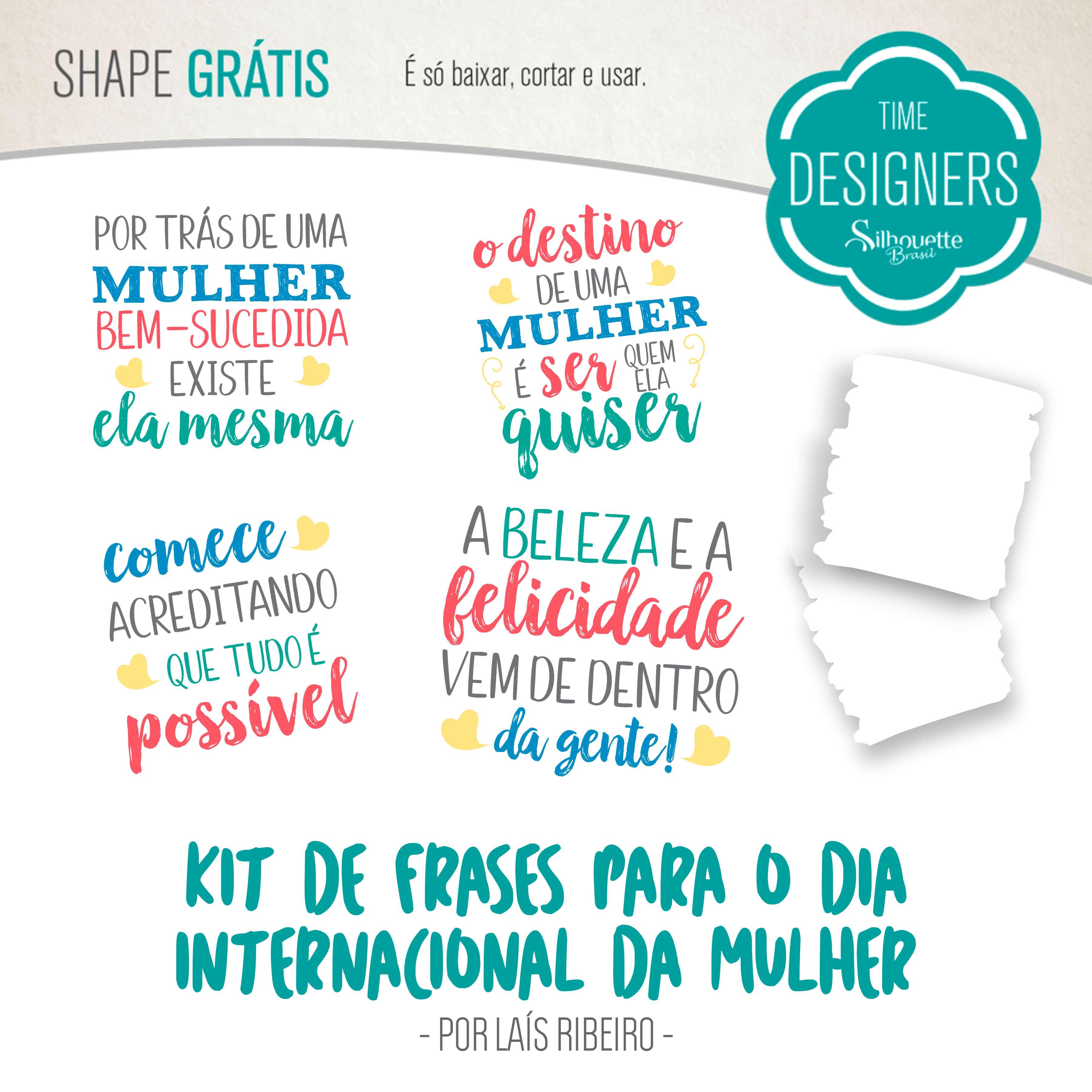 Kit de Frases Digitais - Dia Internacional da Mulher