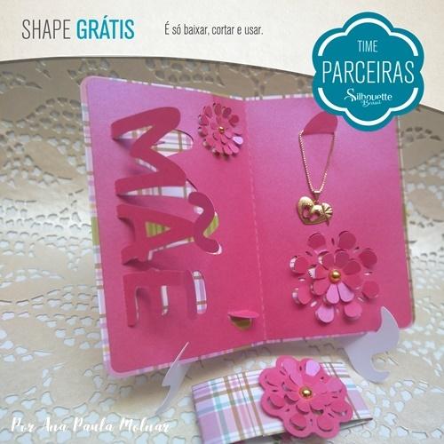 Shape Grátis - Cartão Dia das Mães 3D Porta-joias