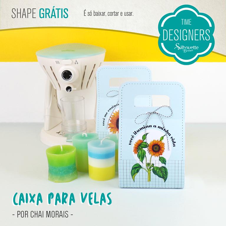Shapes Grátis - Caixa de Presente para Velas