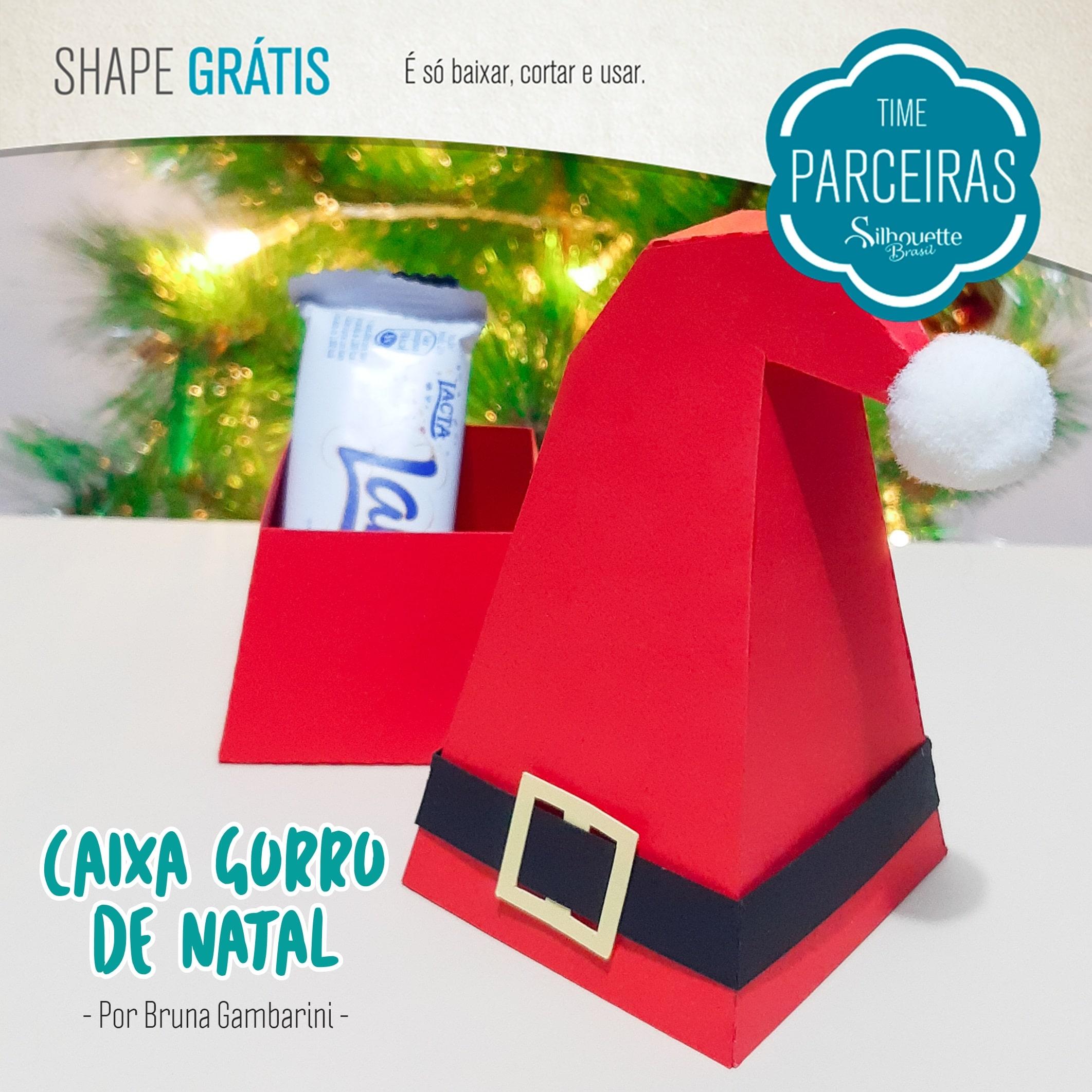 Caixa Casinha de Natal - DIY com Molde Grátis