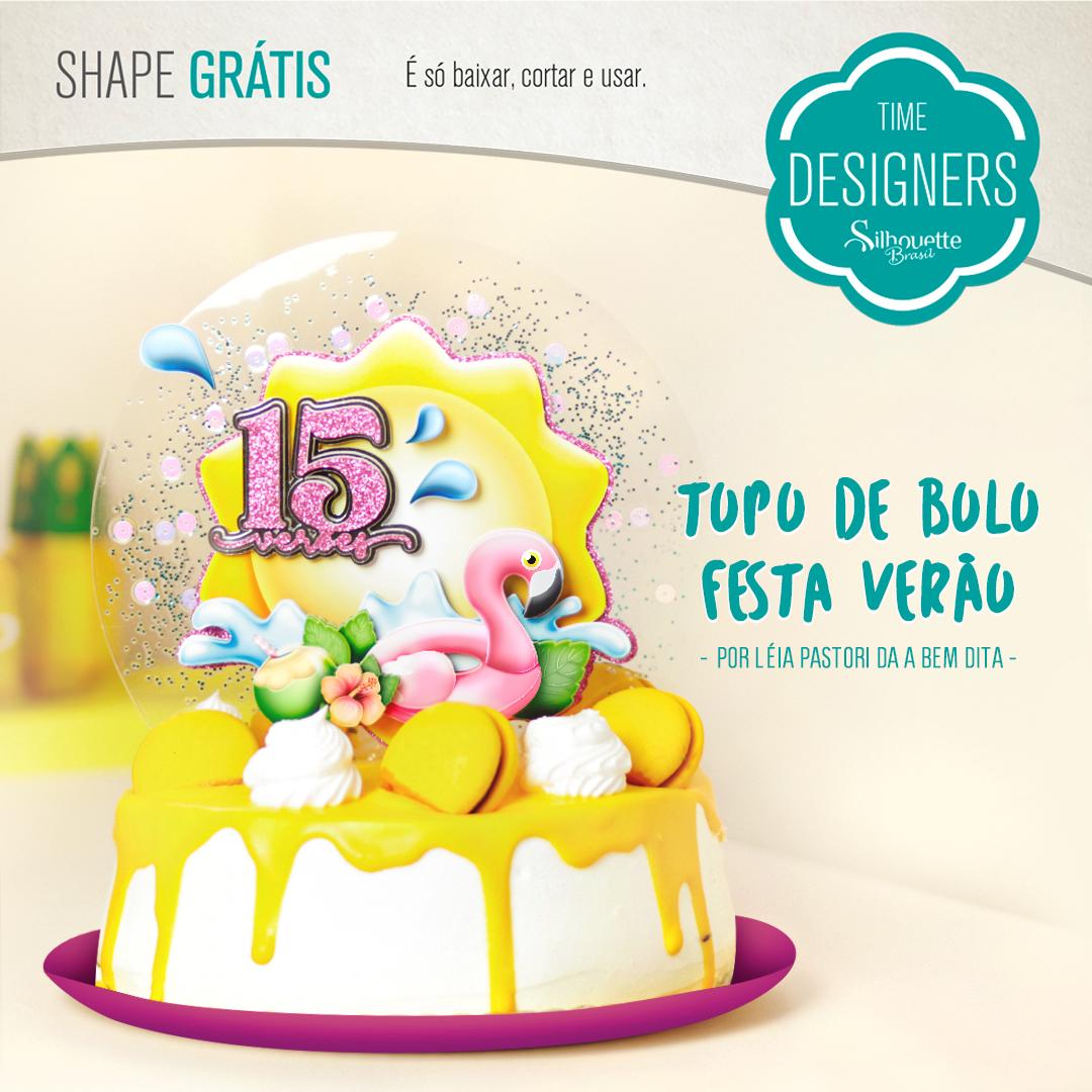 Shape Grátis - Topo de Bolo Festa Verão