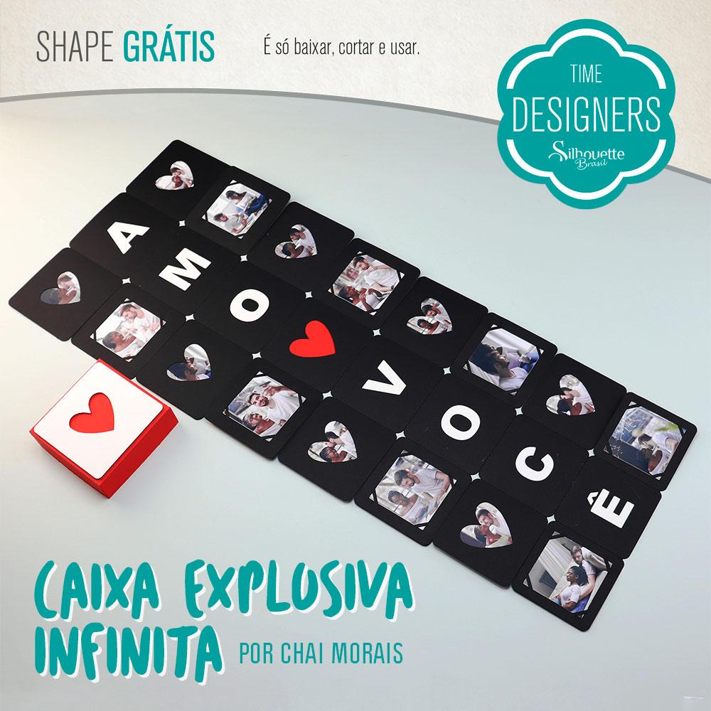 Shape Grátis - Caixa Explosiva Infinita Valentine´s Day