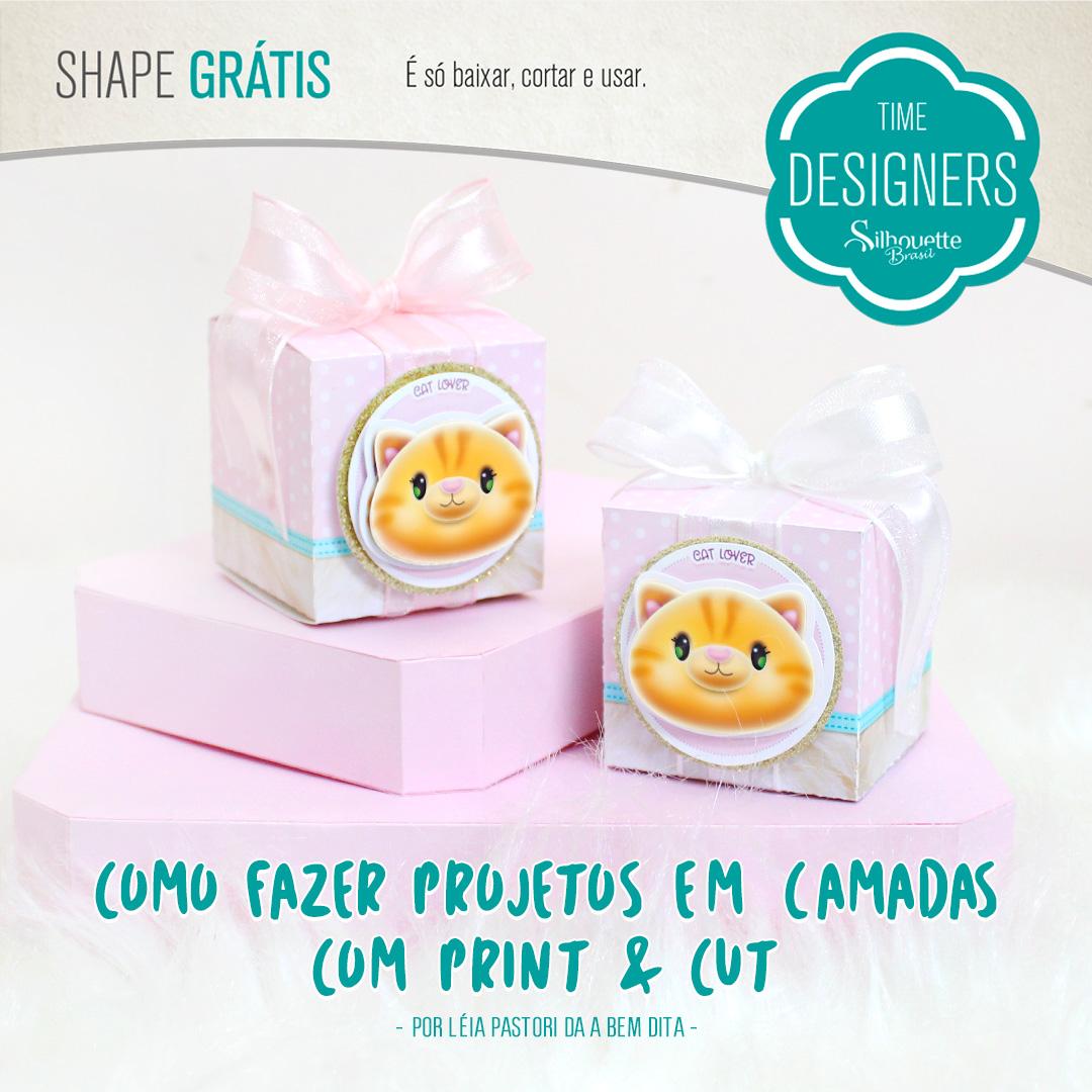 Arquivo Grátis - Projeto em Camadas com Print and Cut