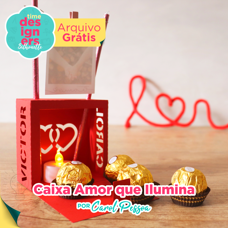 Arquivo Grátis -  Caixa Amor Que Ilumina Namorados