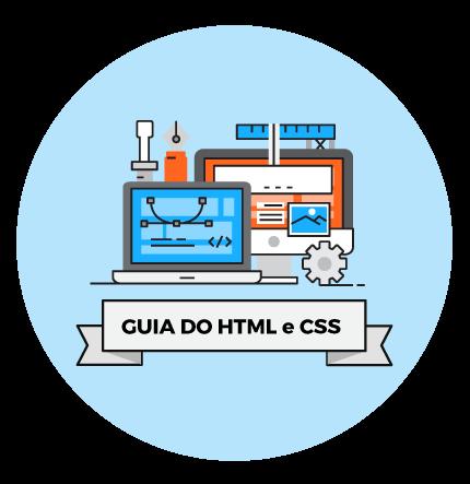identidade visual do infográfico de html e css