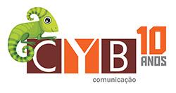logo cyb comunicação 10 anos