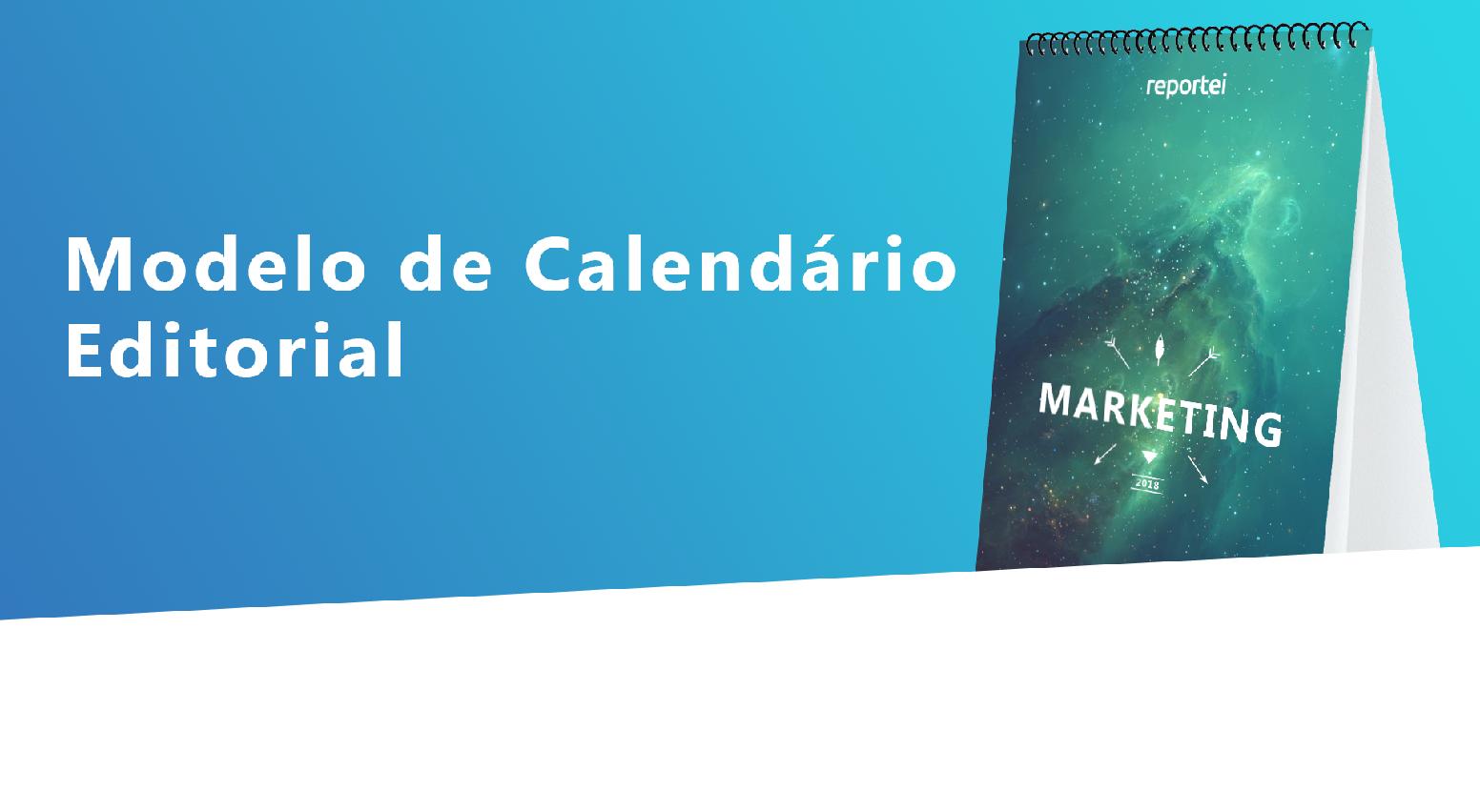 CALENDÁRIO EDITORIAL