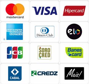 Bandeiras de Cartões de Crédito aceitas