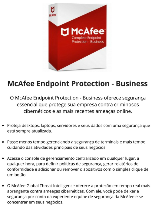 Orçamento Antivírus McAfee - Infomach