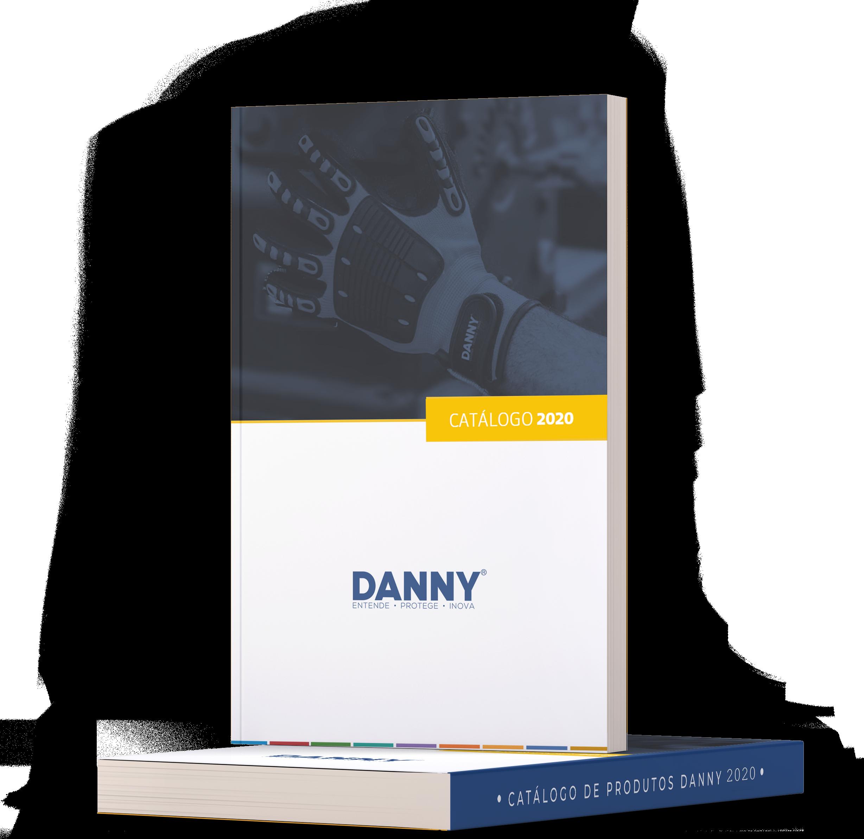 Mockup de livros como catálogo da Danny