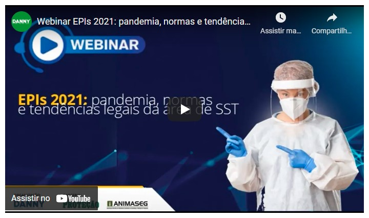 Print do vídeo Webinar EPIs 2021