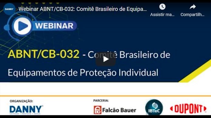 Print do vídeo Webinar ABNT/CB-032
