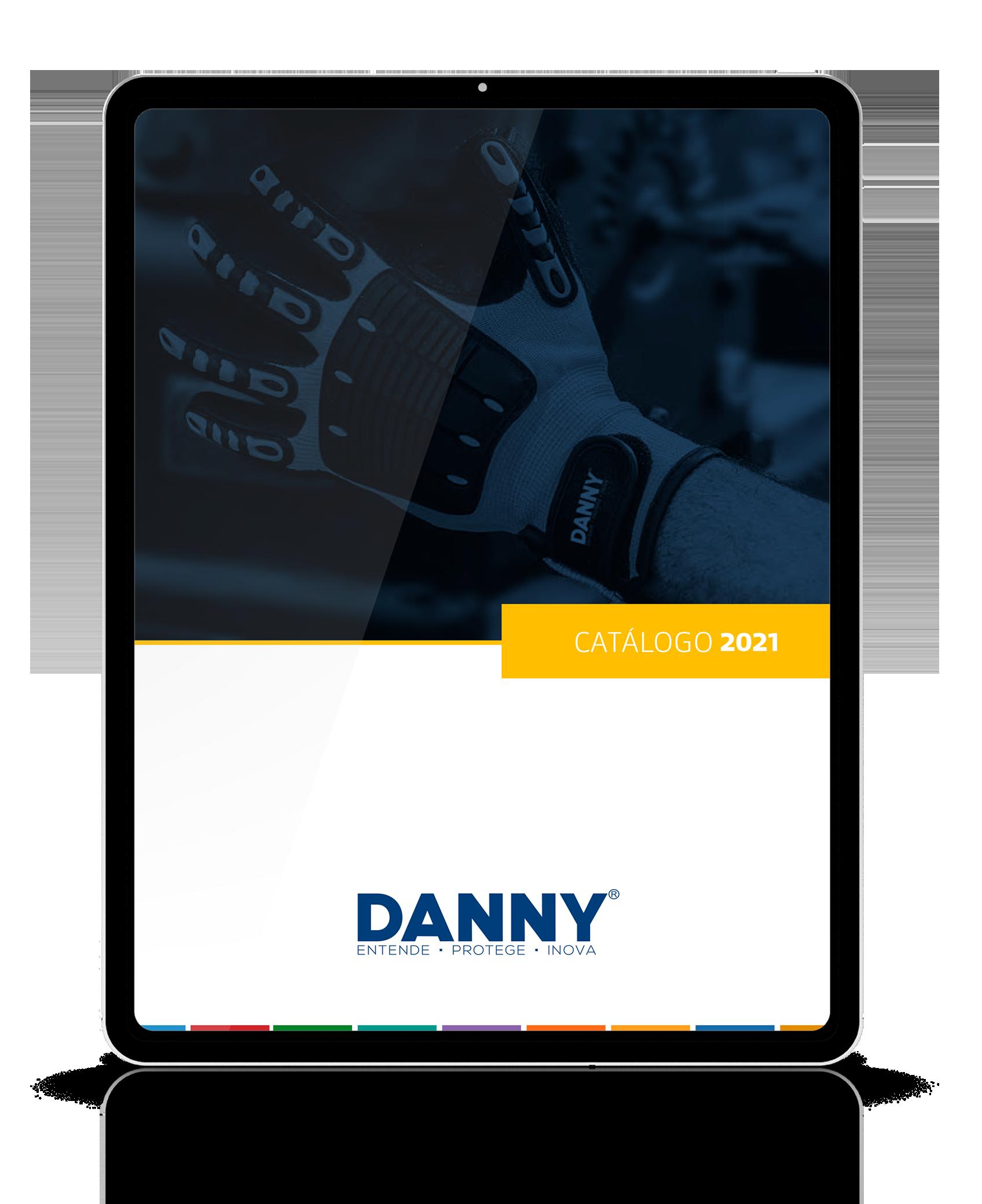 Mockup de tablet com o catálogo na tela