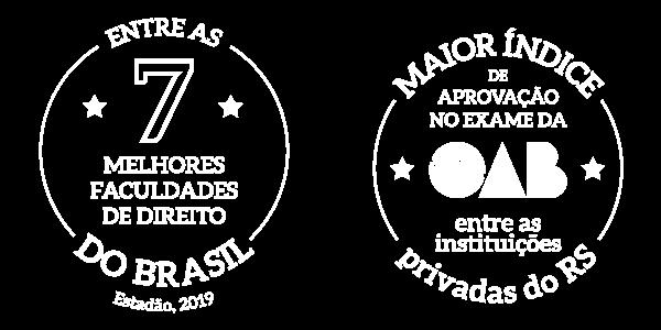 Entre as 7 melhores faculdades de Direito do Brasil | Maior índice de aprovação no exame da OAB entre as instituições privadas do RS