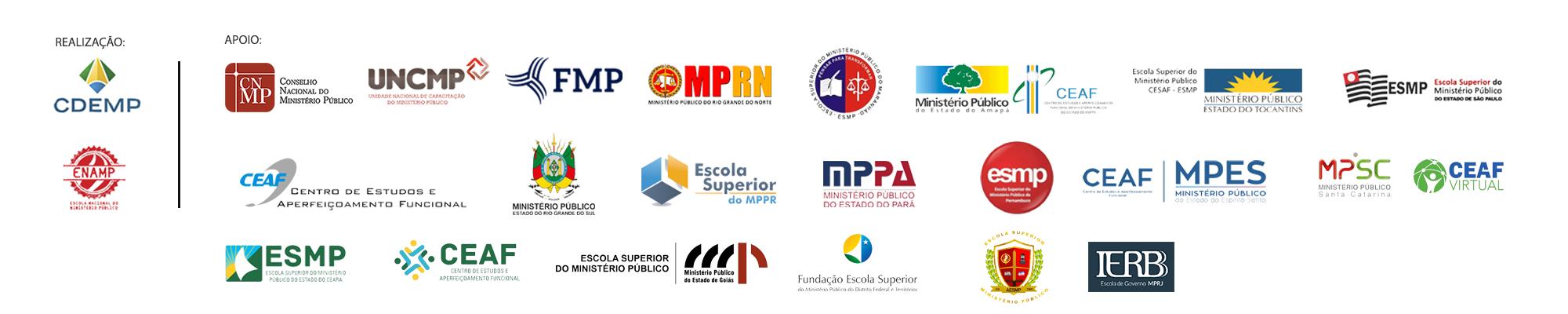 Instituições apoiadoras do evento